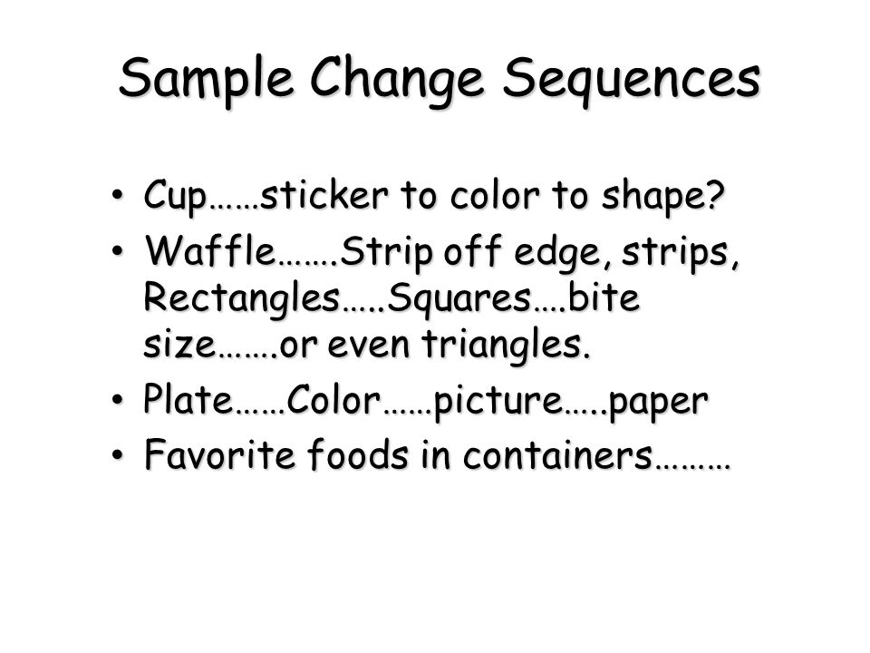Sample Change Sequences