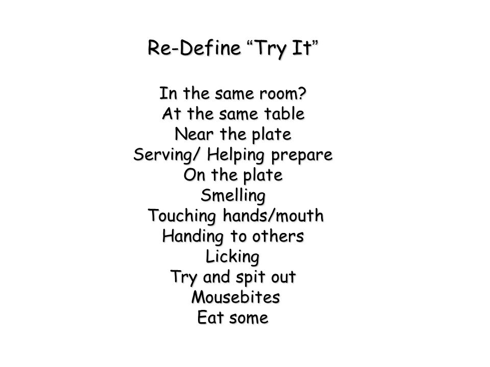 Re-Define Try It In the same room