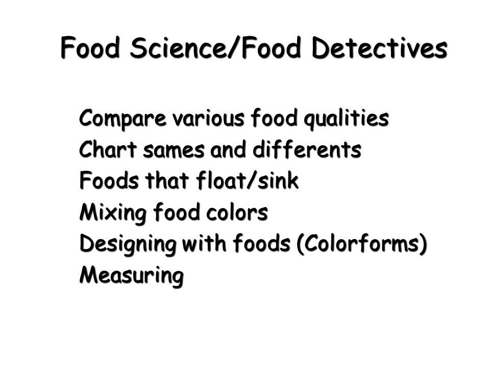 Food Science/Food Detectives