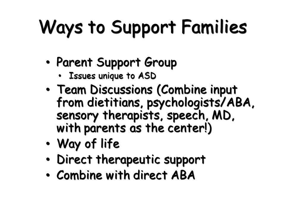 Ways to Support Families