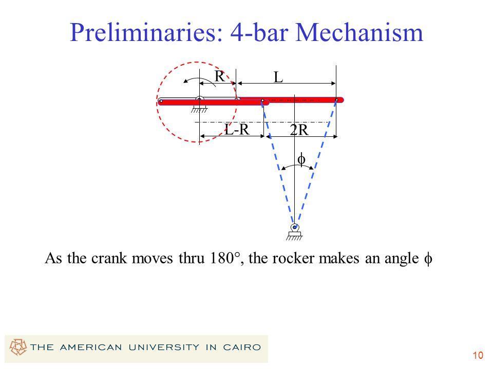 Preliminaries: 4-bar Mechanism