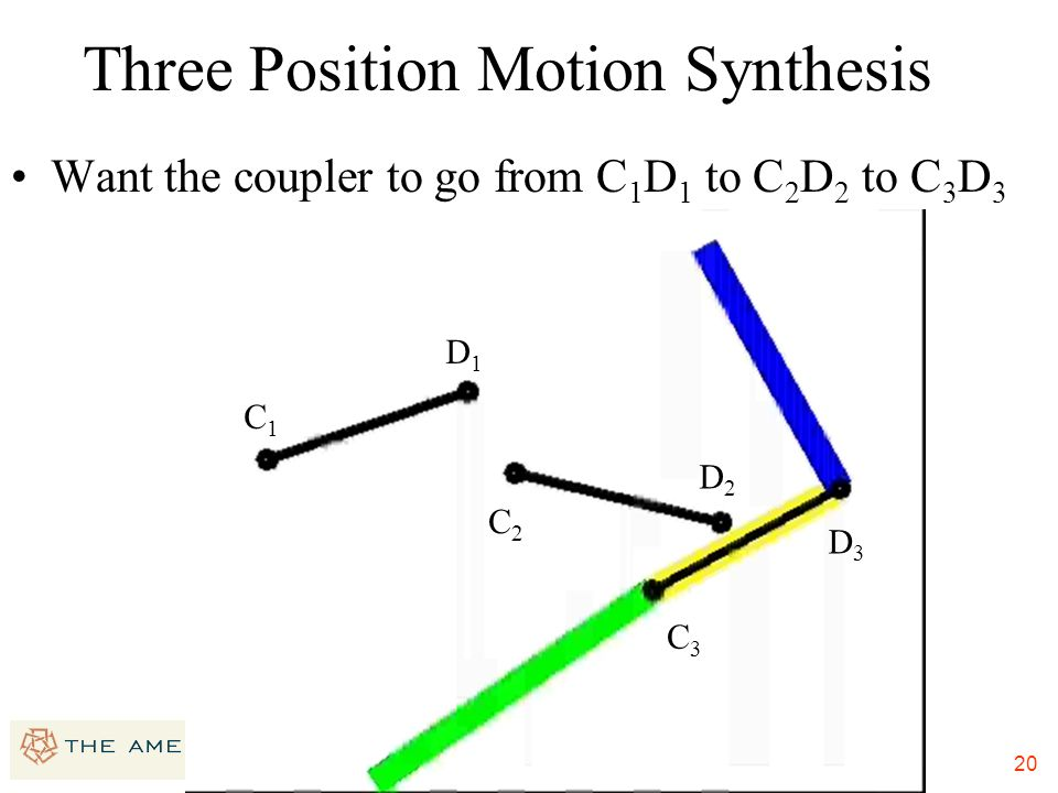 Three Position Motion Synthesis