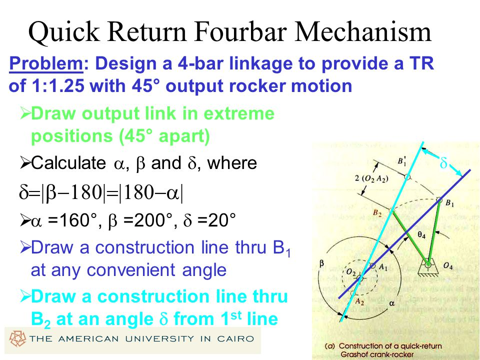 Quick Return Fourbar Mechanism