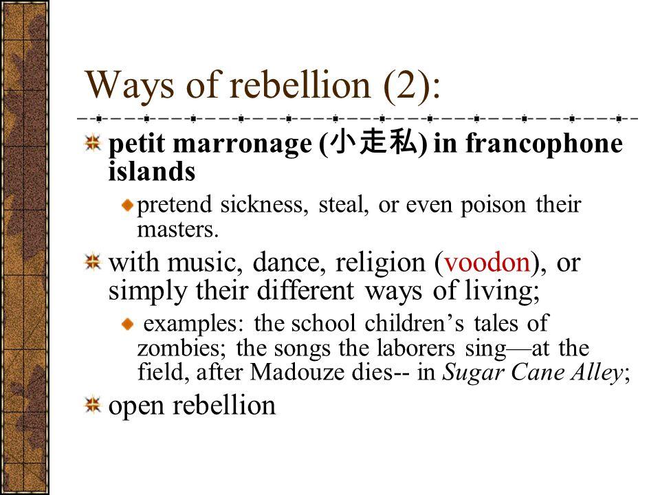 Ways of rebellion (2): petit marronage (小走私) in francophone islands