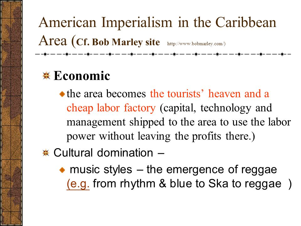 American Imperialism in the Caribbean Area (Cf