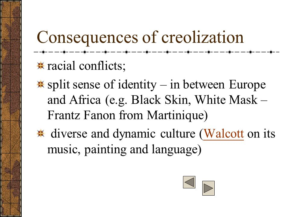 creolization creole language and caribbean Creolization definition: (of a pidgin language) the process of becoming a creole | meaning, pronunciation, translations and examples.
