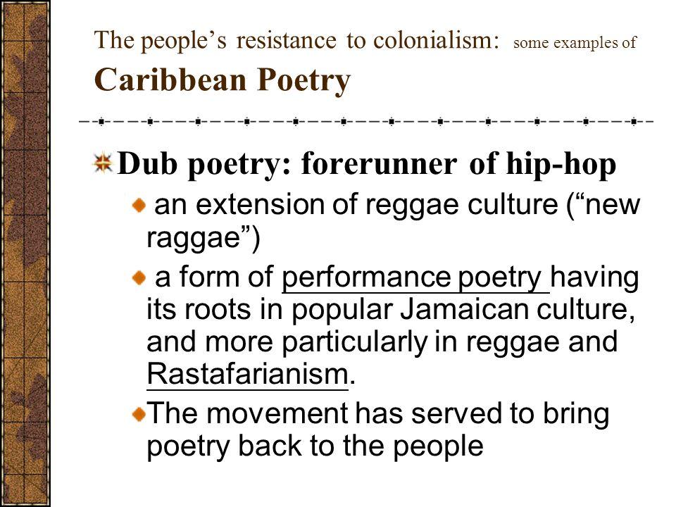 Dub poetry: forerunner of hip-hop
