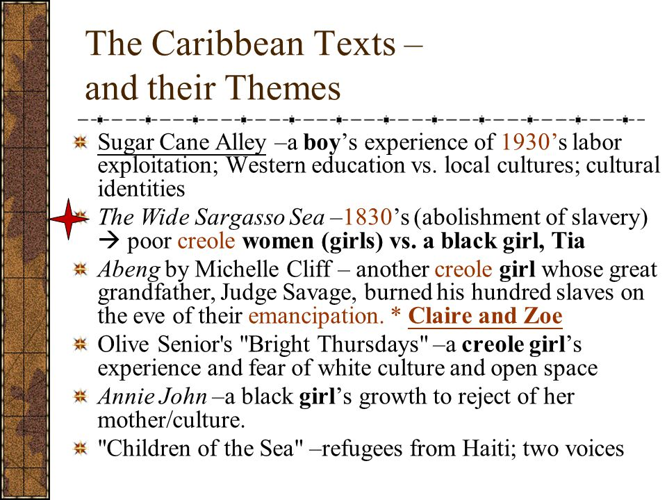 The Caribbean Texts – and their Themes