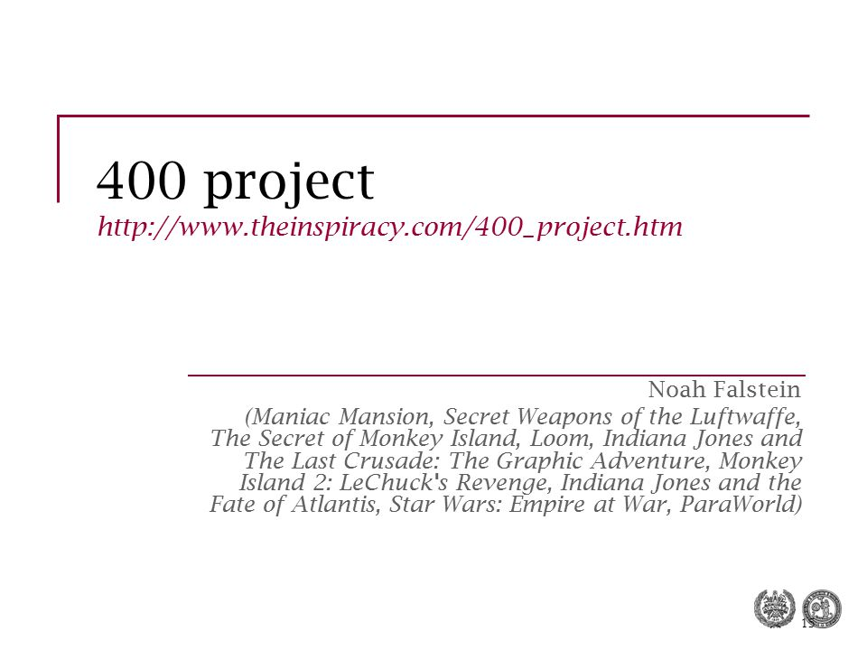 400 project http://www.theinspiracy.com/400_project.htm