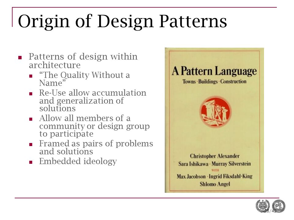 Origin of Design Patterns