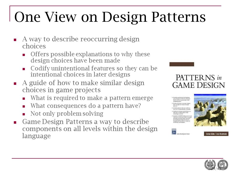 One View on Design Patterns