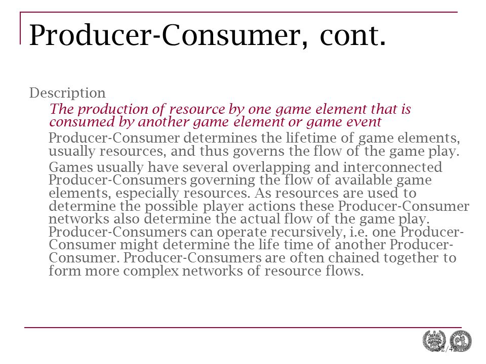 Producer-Consumer, cont.