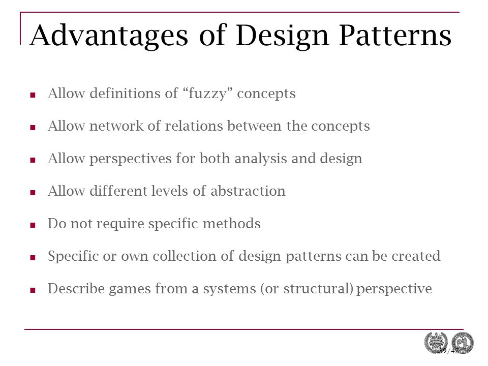 Advantages of Design Patterns