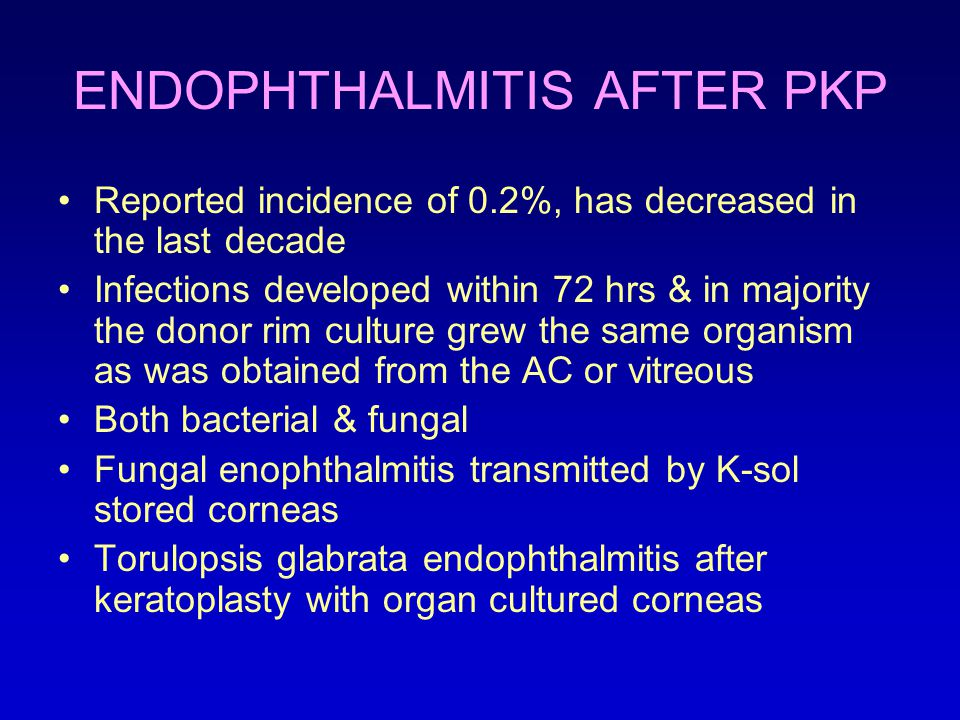 ENDOPHTHALMITIS AFTER PKP