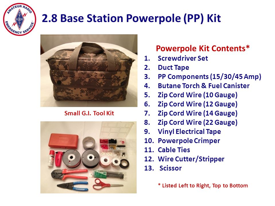 Powerpole Kit Contents* * Listed Left to Right, Top to Bottom