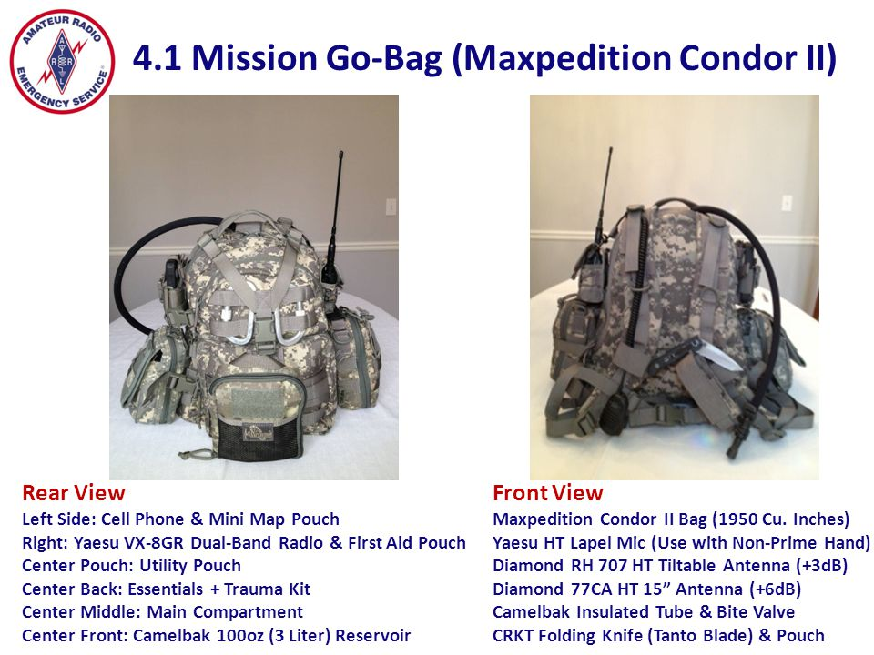 4.1 Mission Go-Bag (Maxpedition Condor II)