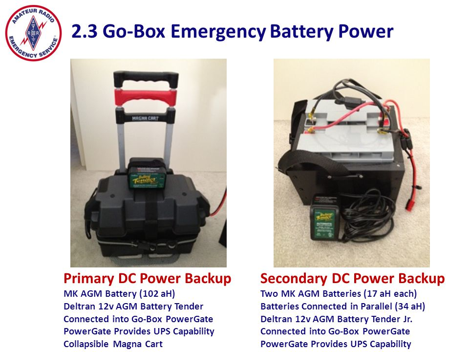 2.3 Go-Box Emergency Battery Power