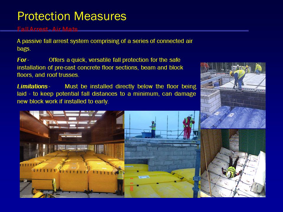 Protection Measures Fall Arrest - Air Mats
