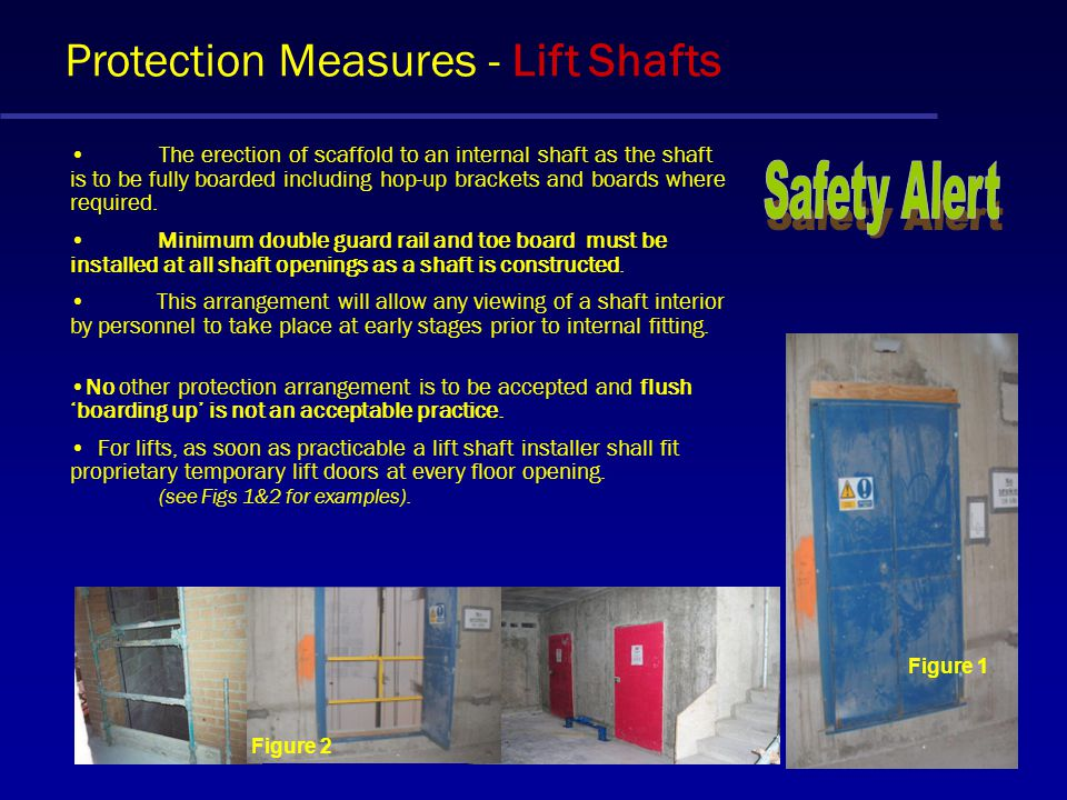 Protection Measures - Lift Shafts