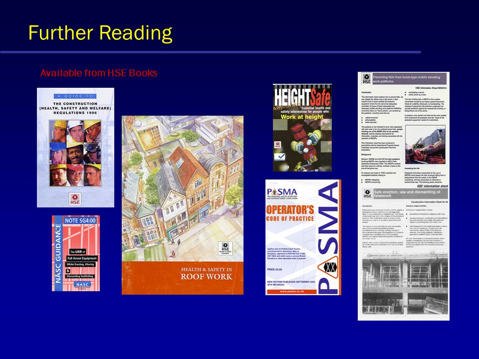 Further Reading Available from HSE Books