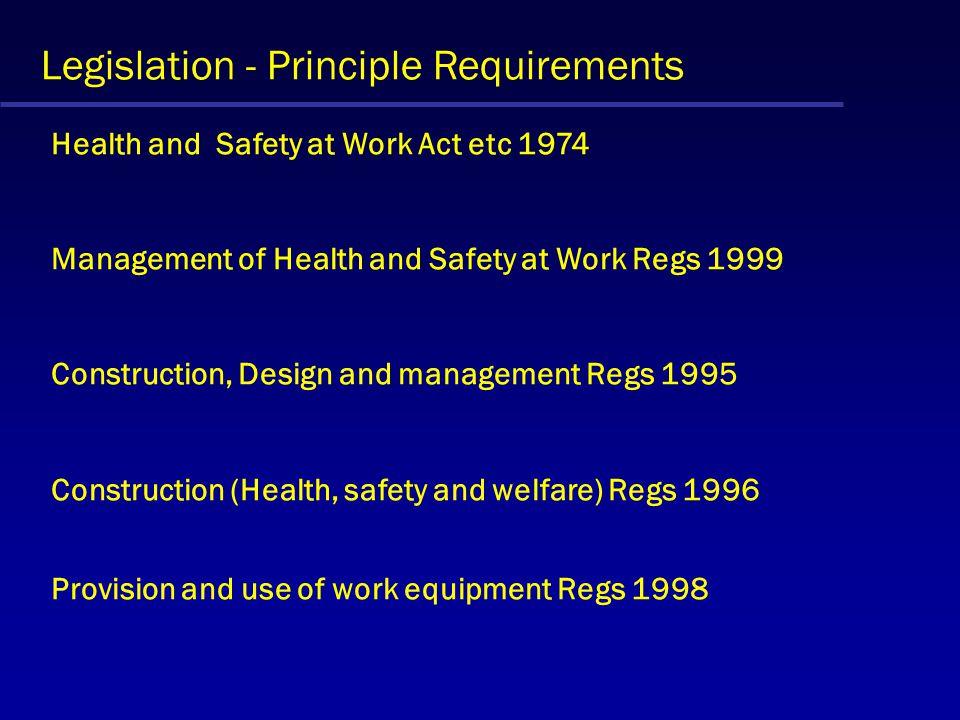 Legislation - Principle Requirements