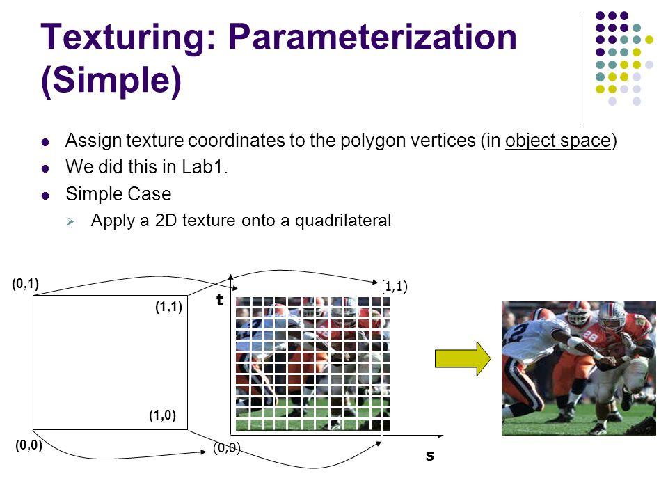 Texturing: Parameterization (Simple)