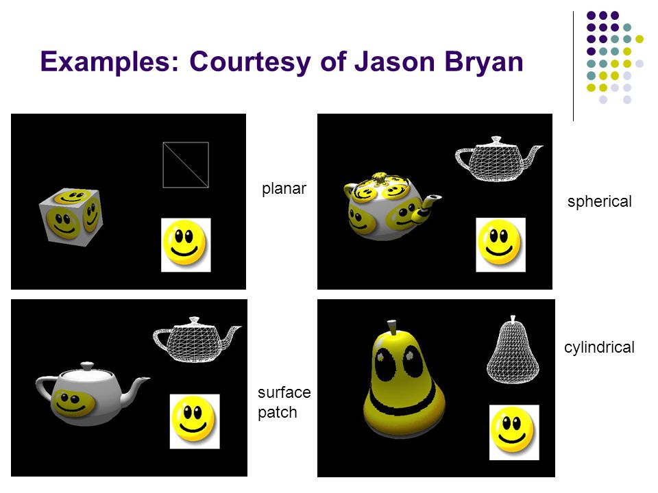 Examples: Courtesy of Jason Bryan