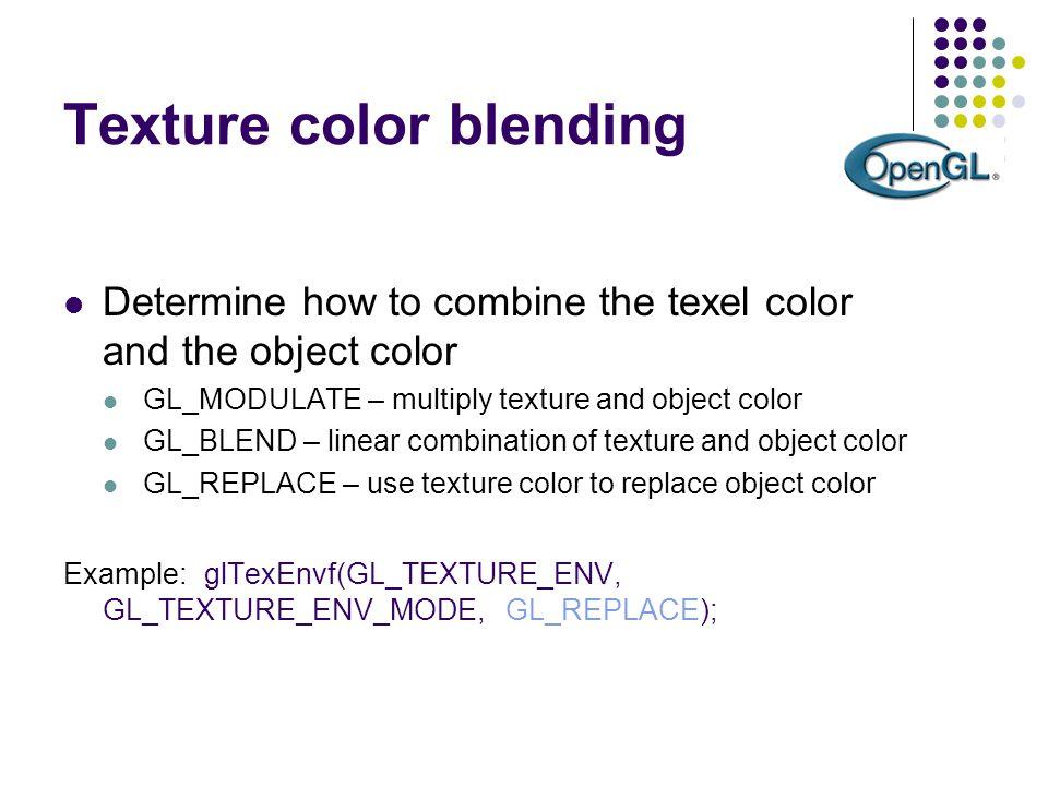 Texture color blending