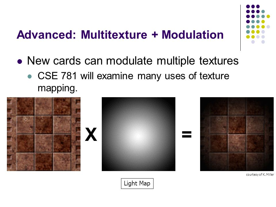 Advanced: Multitexture + Modulation