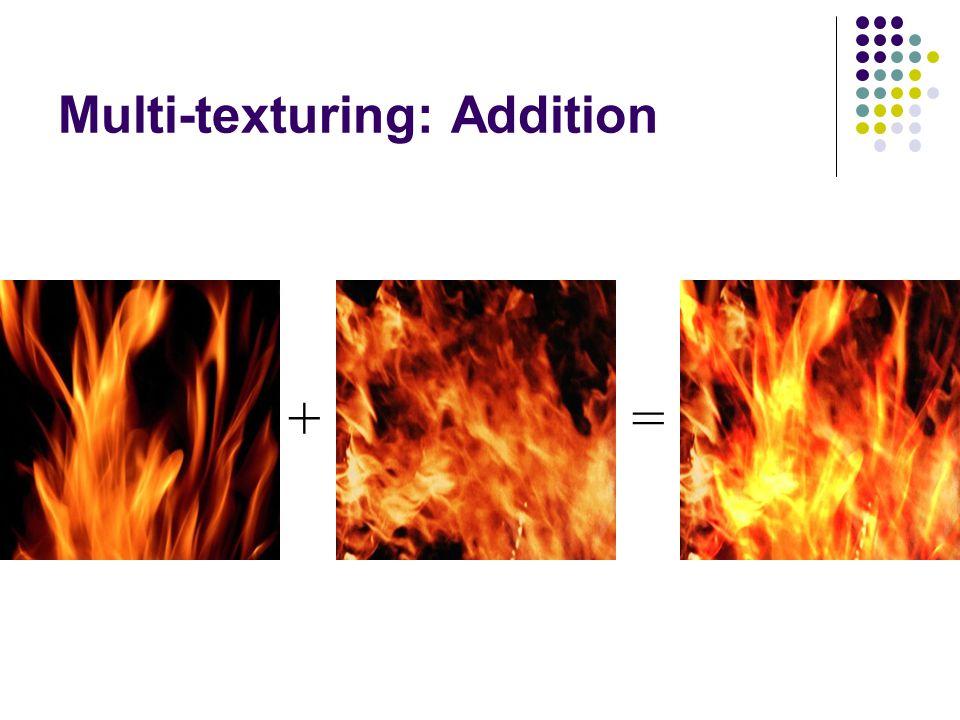 Multi-texturing: Addition