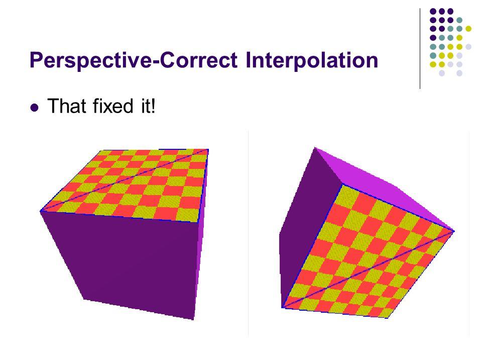 Perspective-Correct Interpolation
