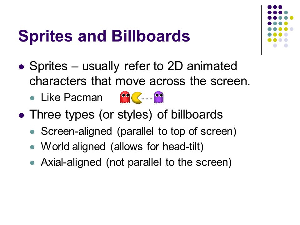 Sprites and Billboards