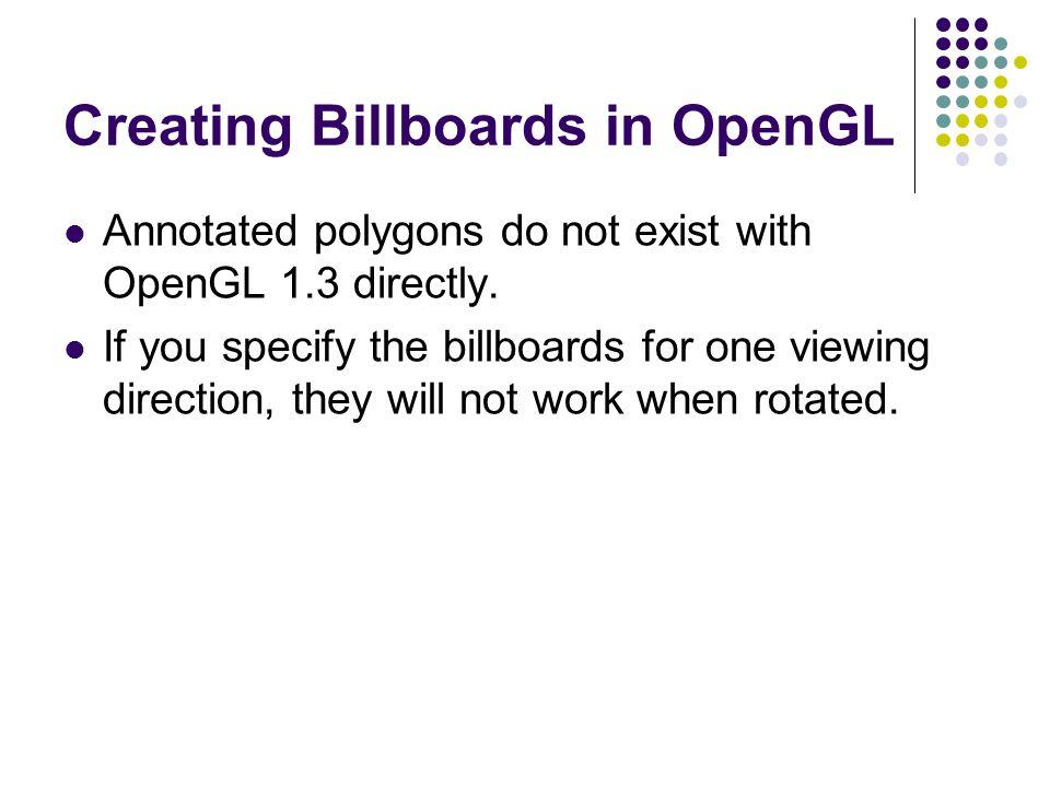 Creating Billboards in OpenGL
