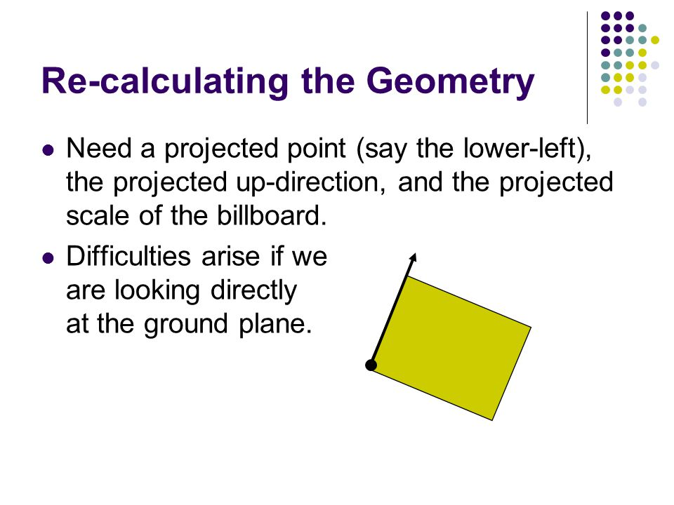 Re-calculating the Geometry