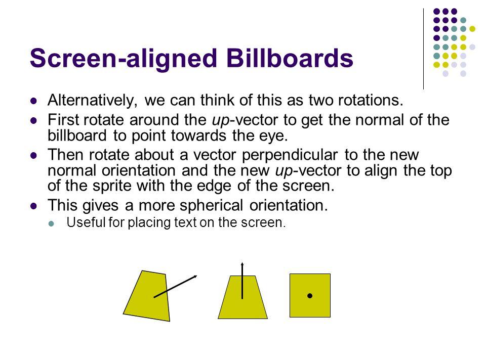 Screen-aligned Billboards