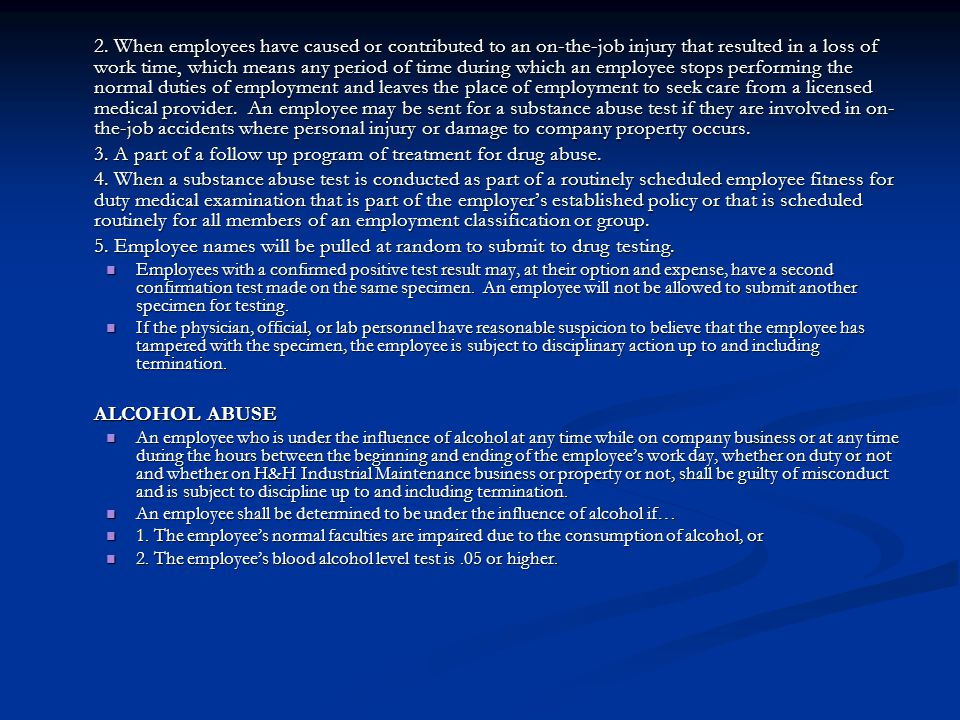 3. A part of a follow up program of treatment for drug abuse.
