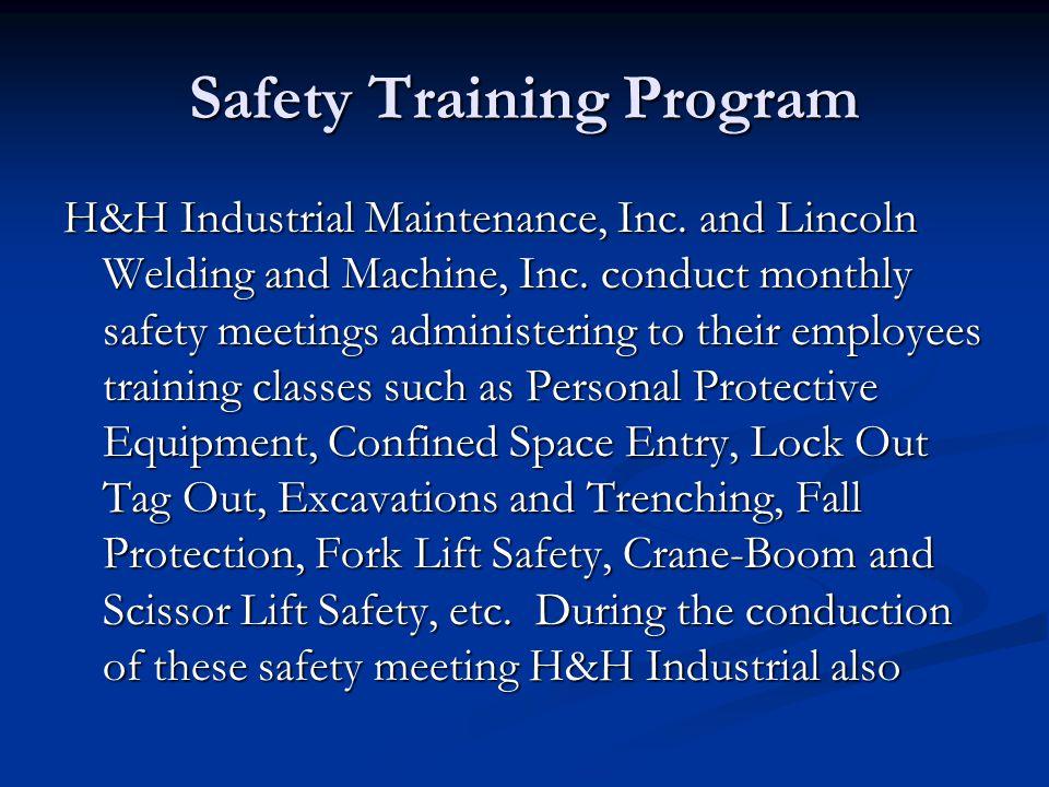 Safety Training Program
