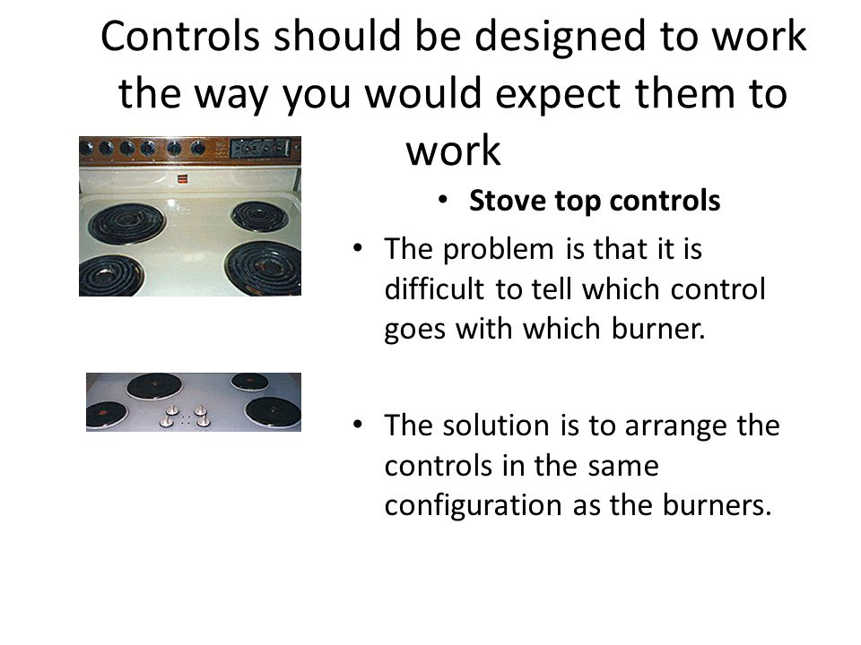Controls should be designed to work the way you would expect them to work