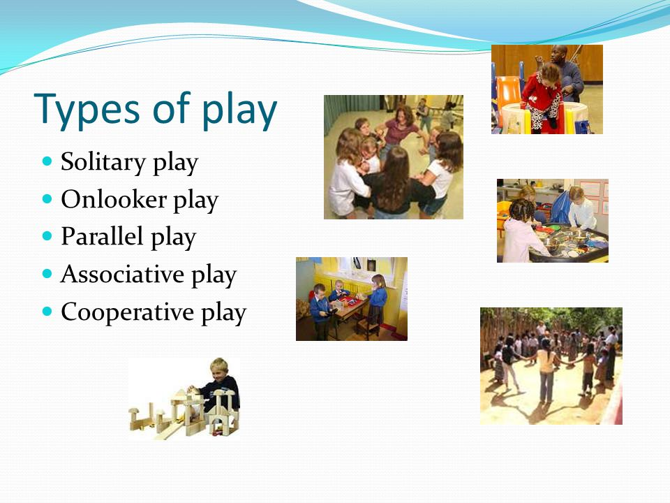 Types of play Solitary play Onlooker play Parallel play