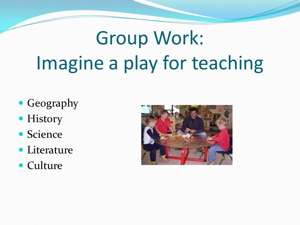 Group Work: Imagine a play for teaching