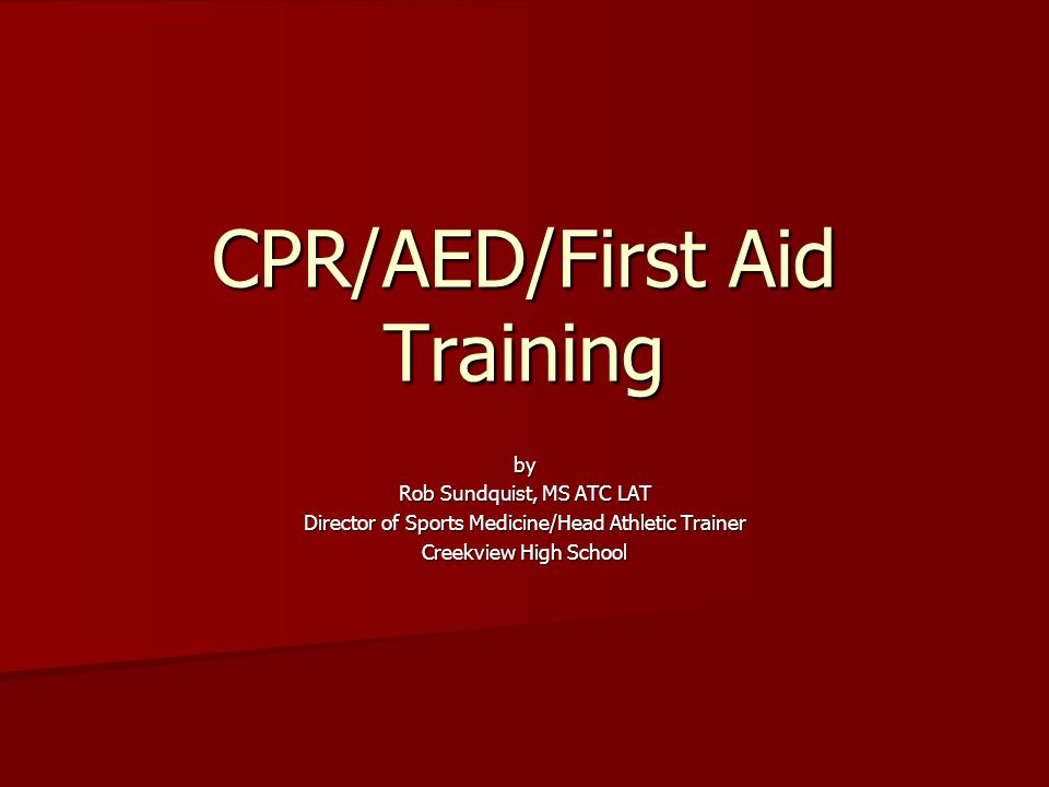 CPR/AED/First Aid Training