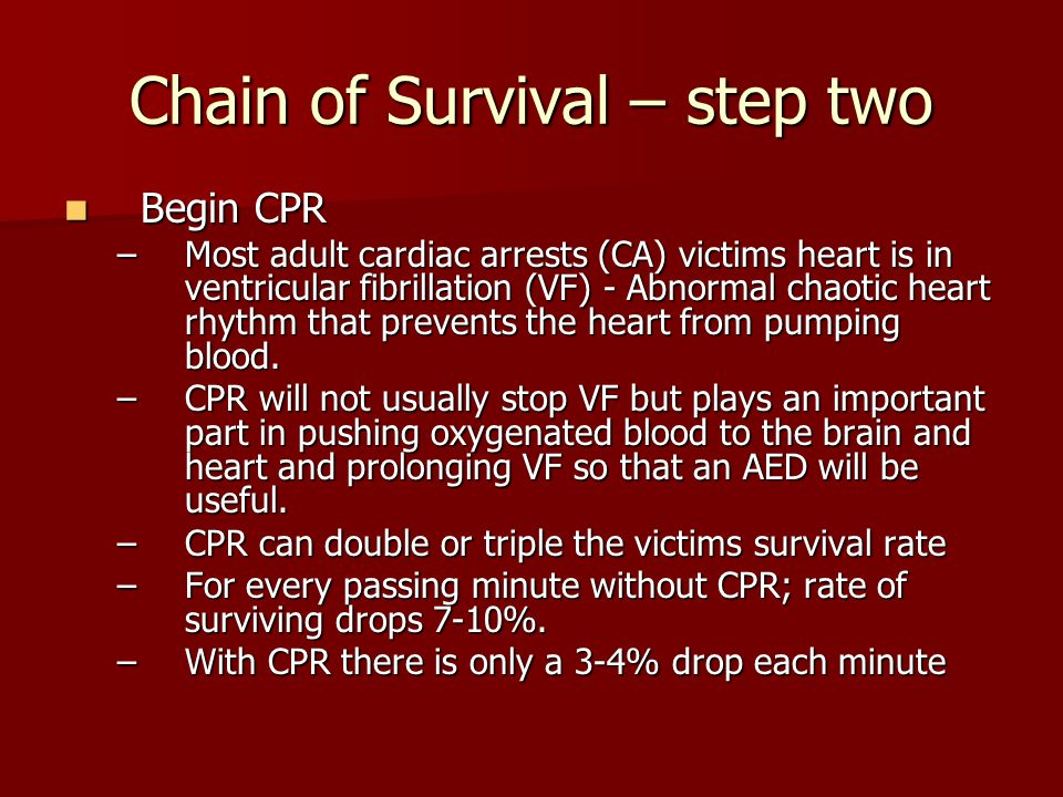 Chain of Survival – step two