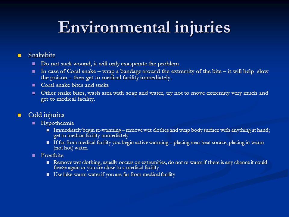 Environmental injuries