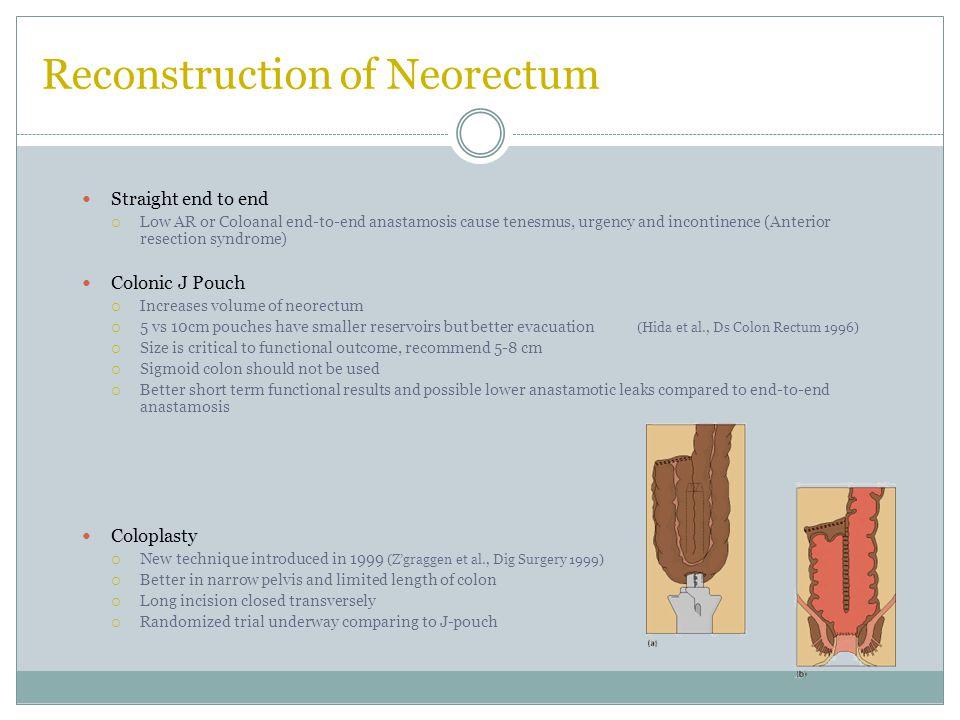 Reconstruction of Neorectum