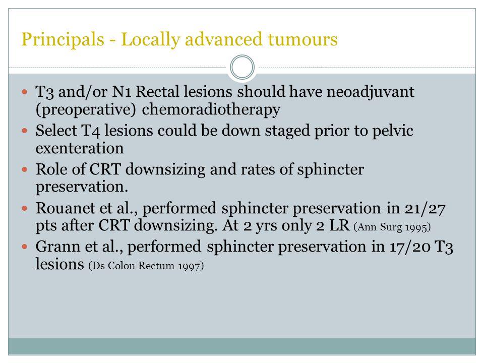 Principals - Locally advanced tumours