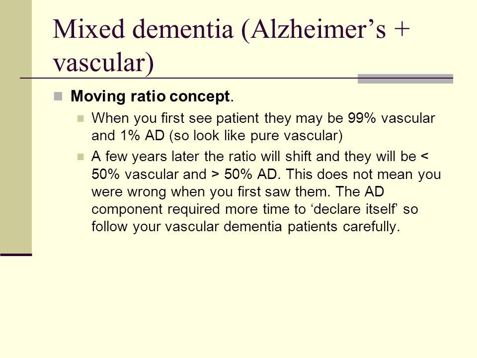 Mixed dementia (Alzheimer's + vascular)