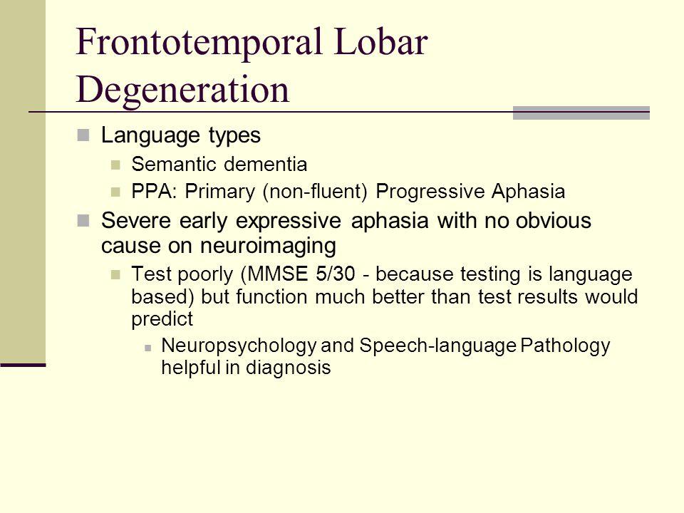 Frontotemporal Lobar Degeneration