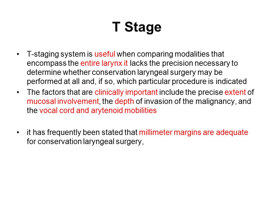 T Stage