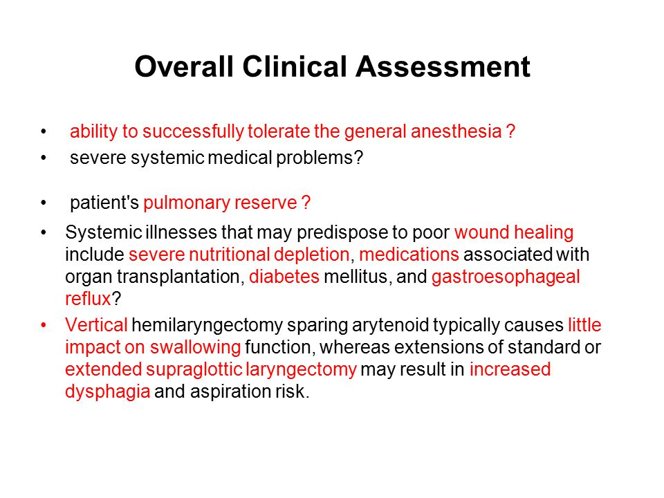 Overall Clinical Assessment
