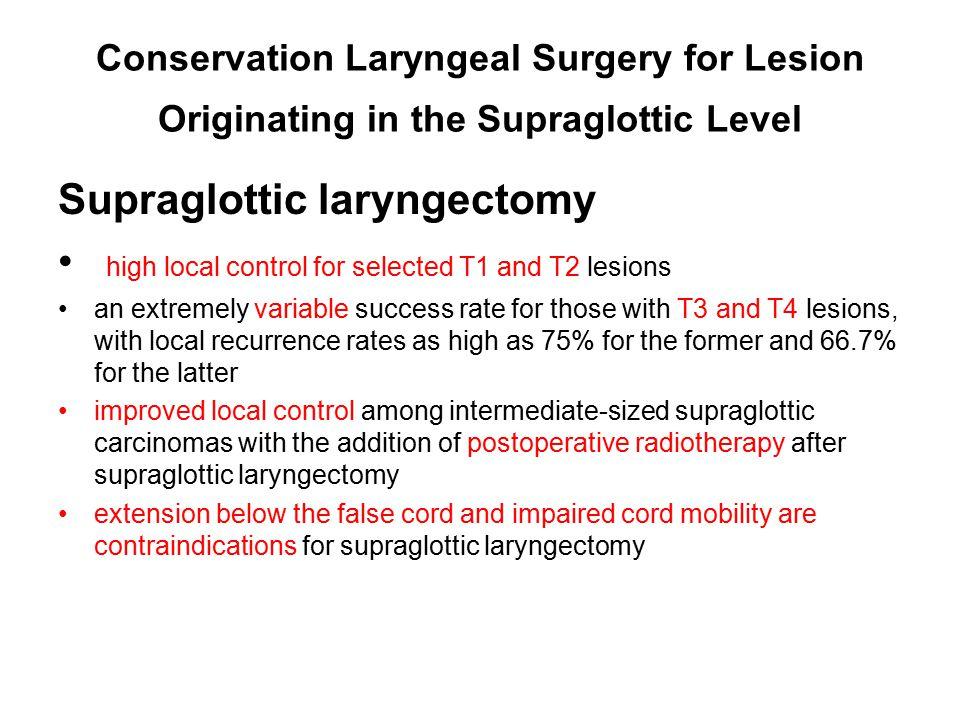 Supraglottic laryngectomy